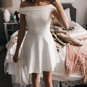 White elegant tea dress